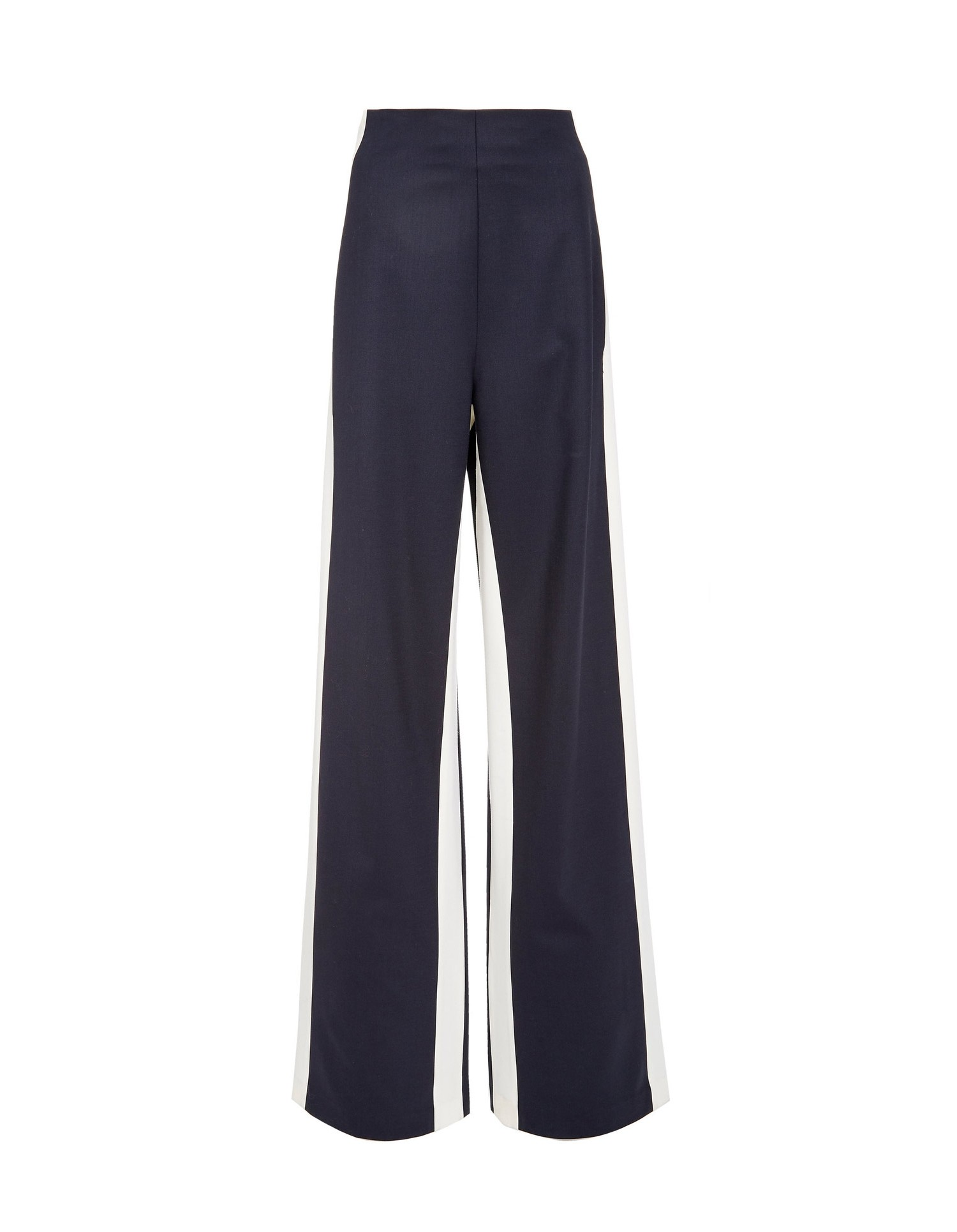 MONSE Double Stripe Gabardine Wool Pant Flat Front