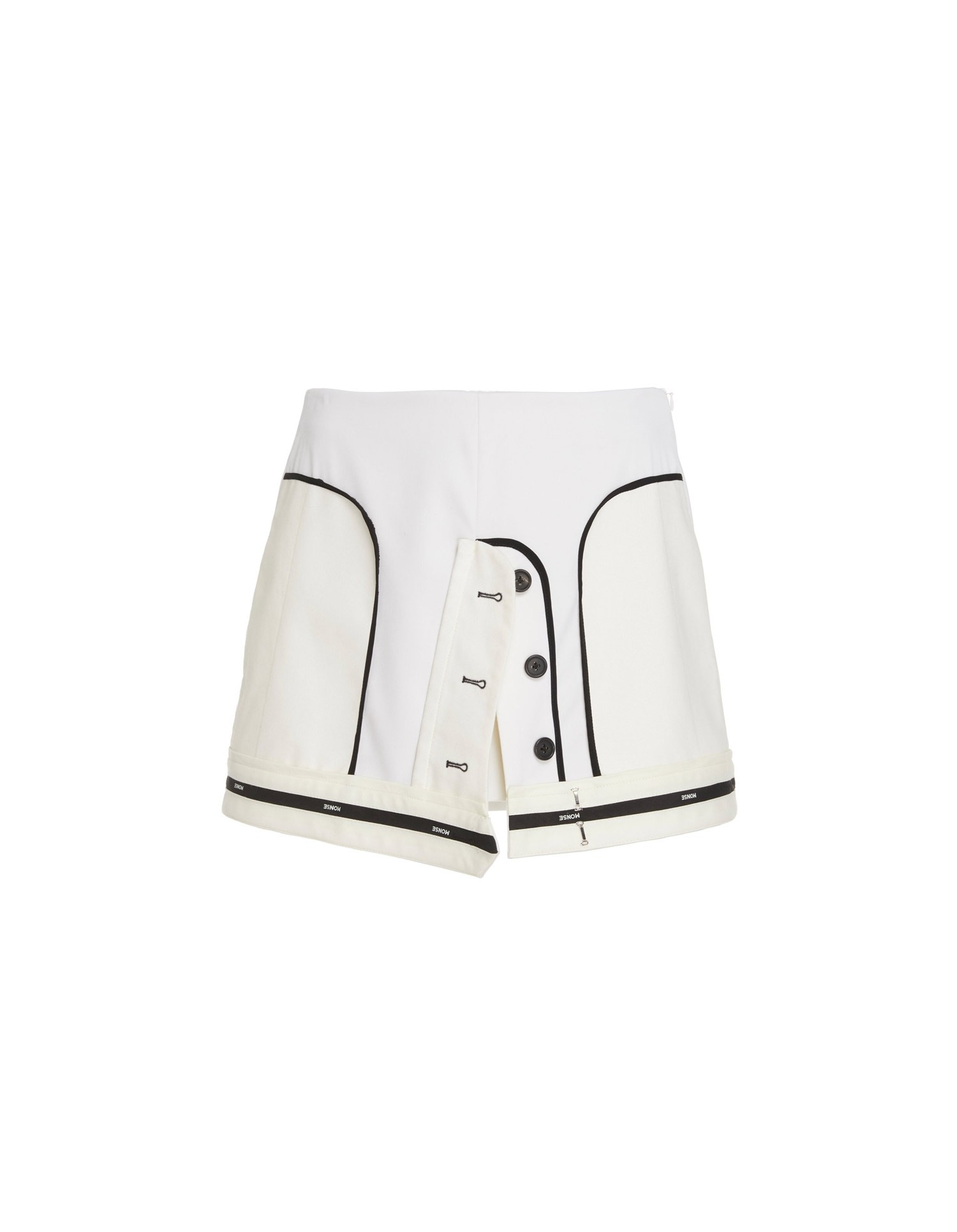 MONSE Inverted Mini Skirt Flat Front