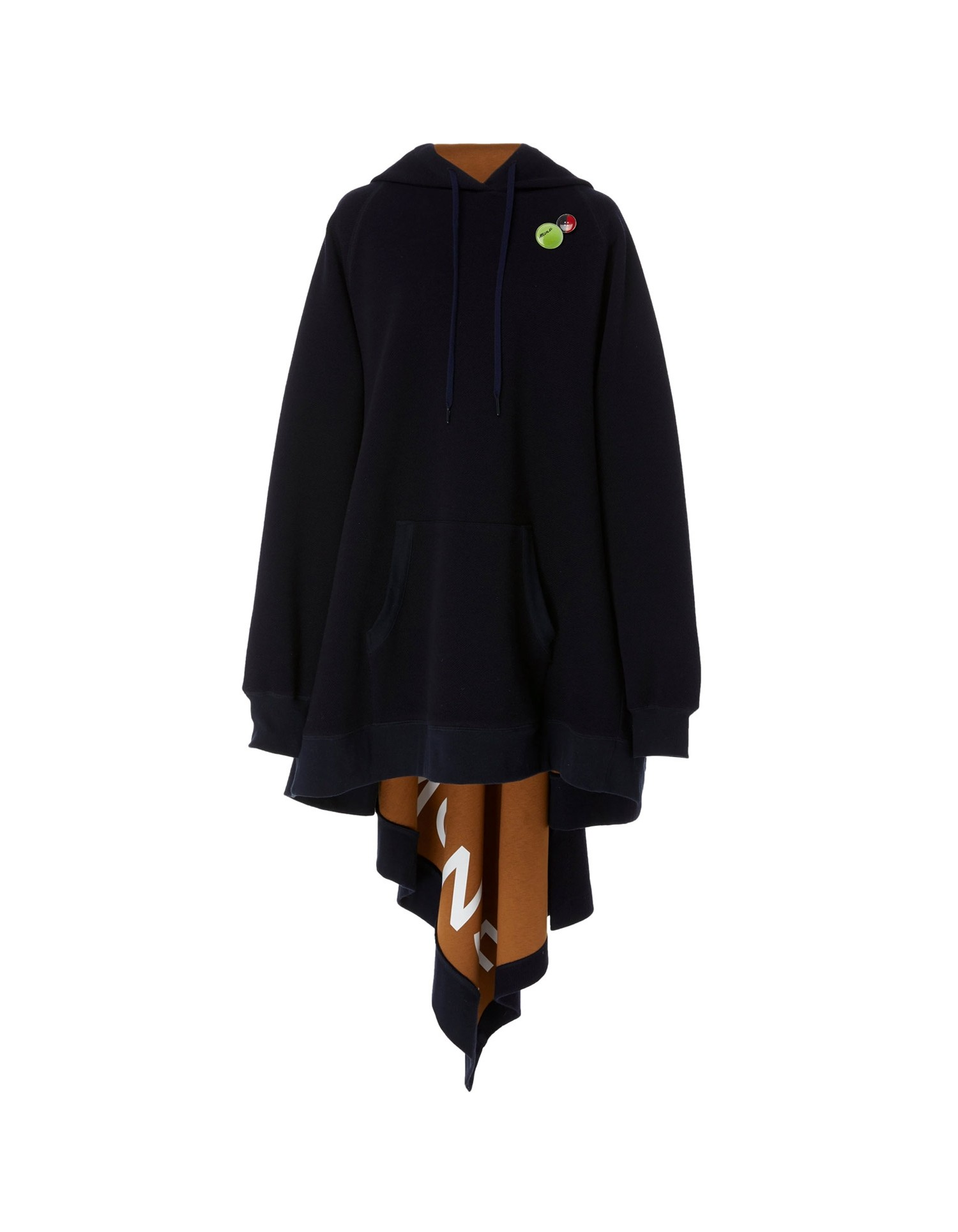 MONSE Long Asymmetrical Hoodie Flat