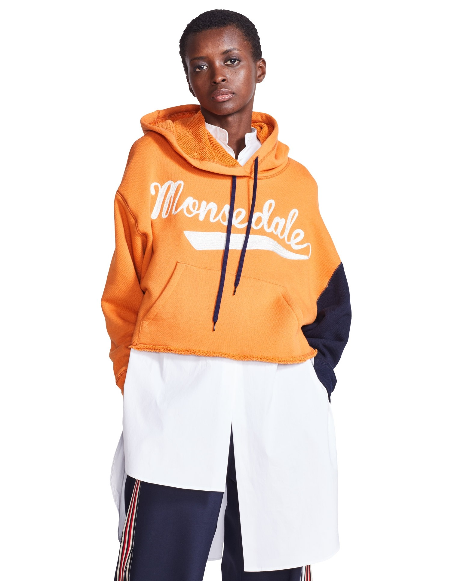 MONSE Monsdale Ripped Hoodie on Model Front View