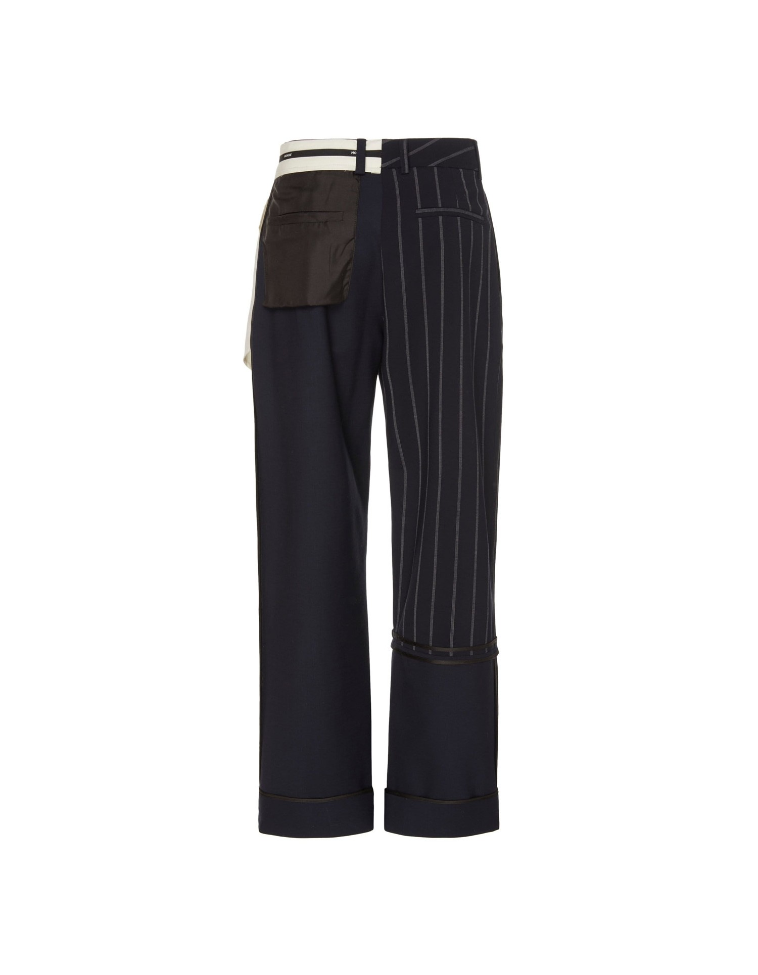 MONSE Pinstripe Inside Out Patchwork Pant Flat Back