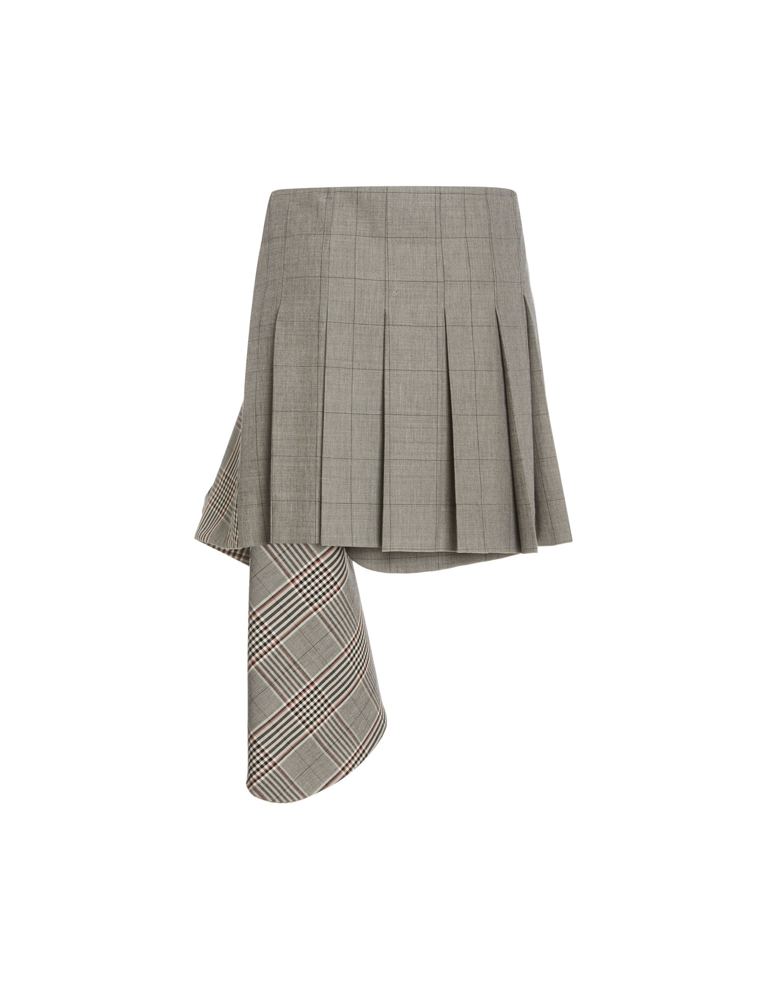 MONSE Plaid Cascade Suiting Mini Skirt Flat Back