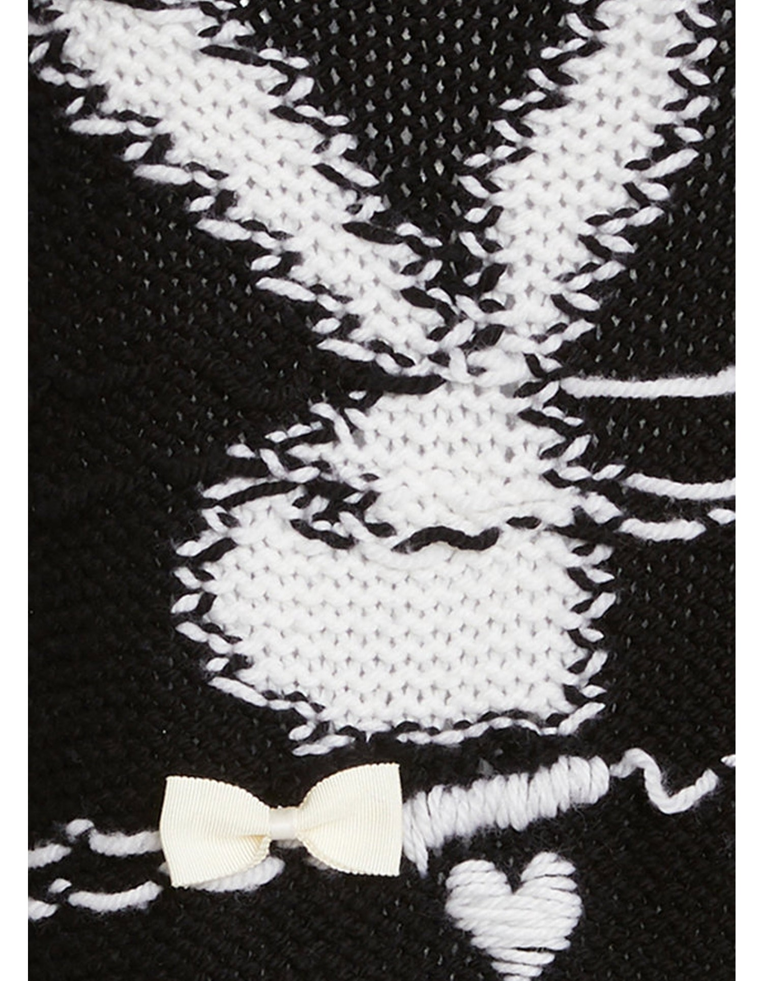 Playboy X MONSE Oversized Knit Dress in Black Detailed Embroidery