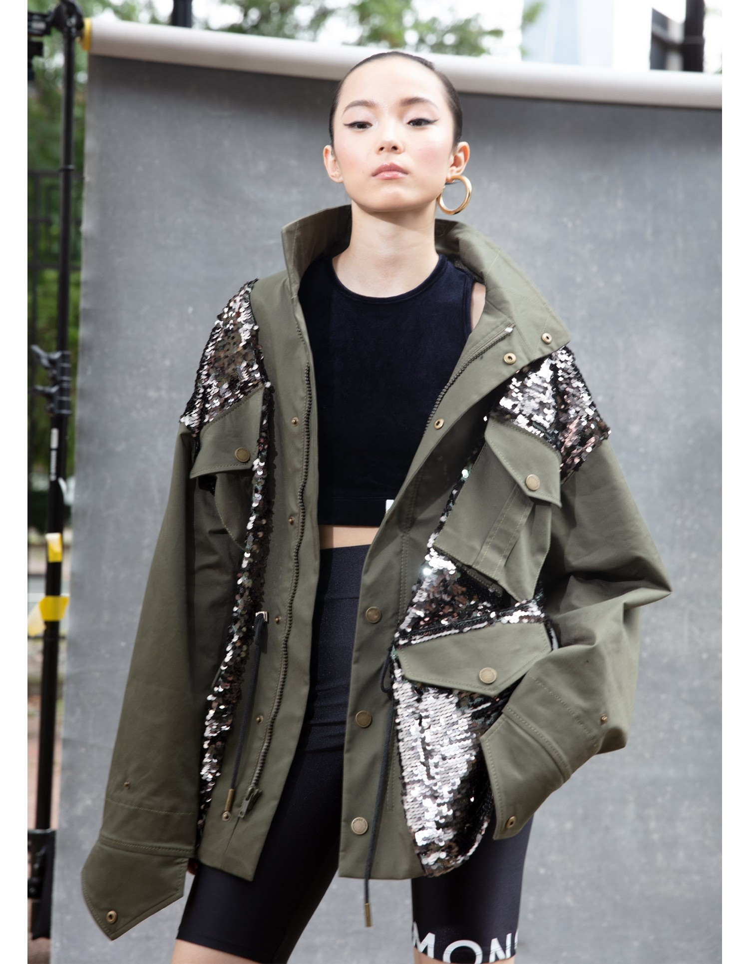 SEQUINED FIELD JACKET