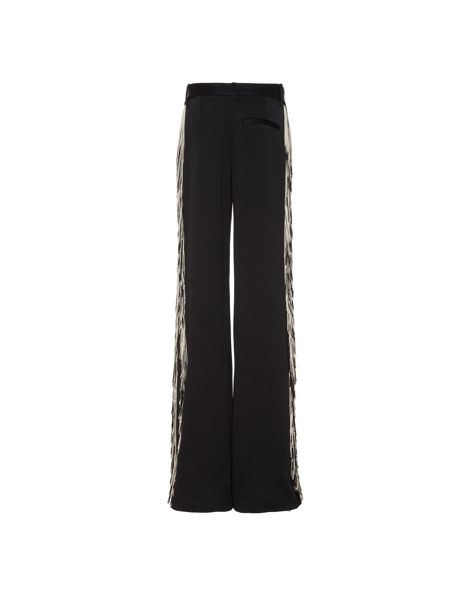 MONSE Satin Fringe Pant Flat Back