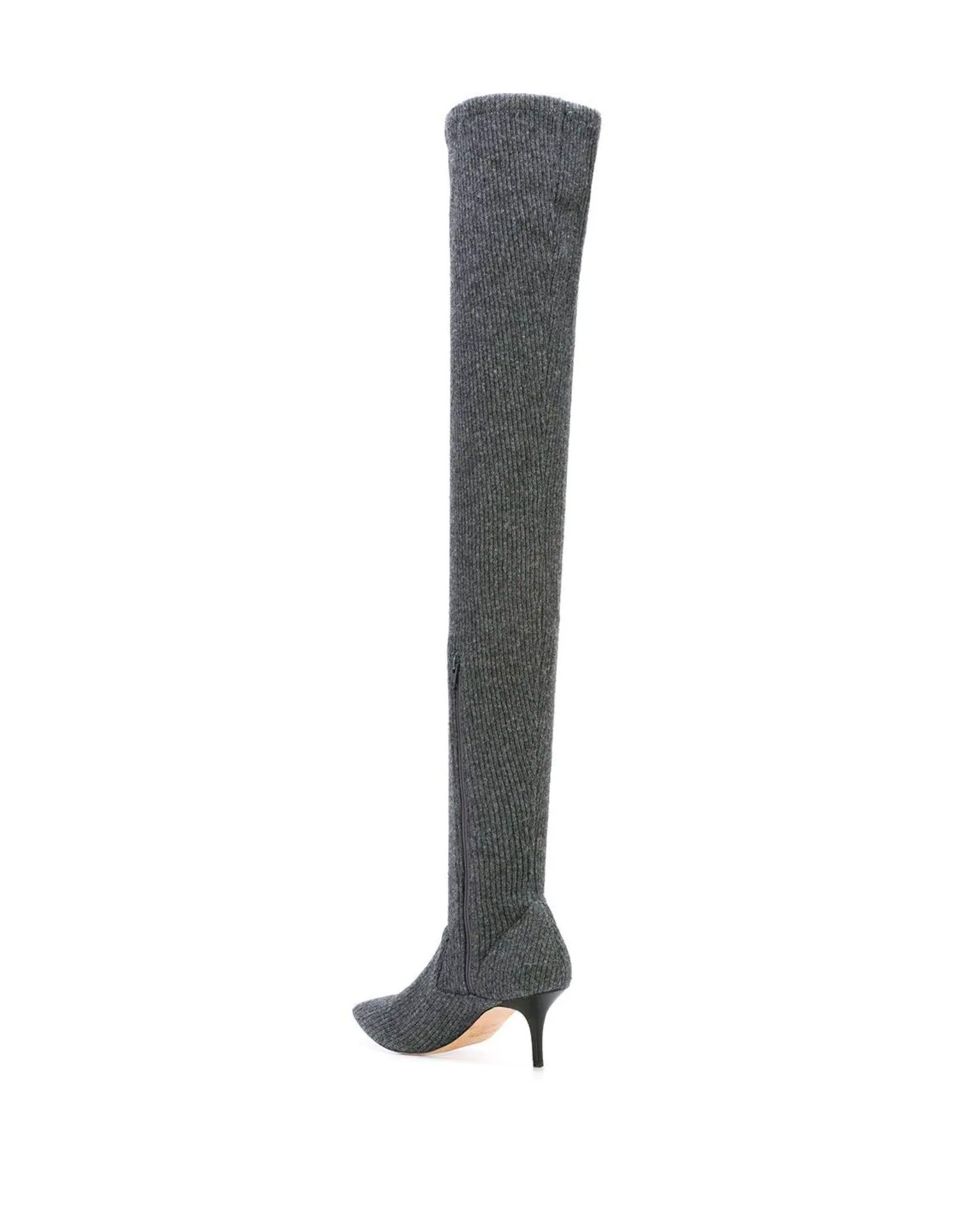 MONSE Thigh High Knitted Sock Boot Back View