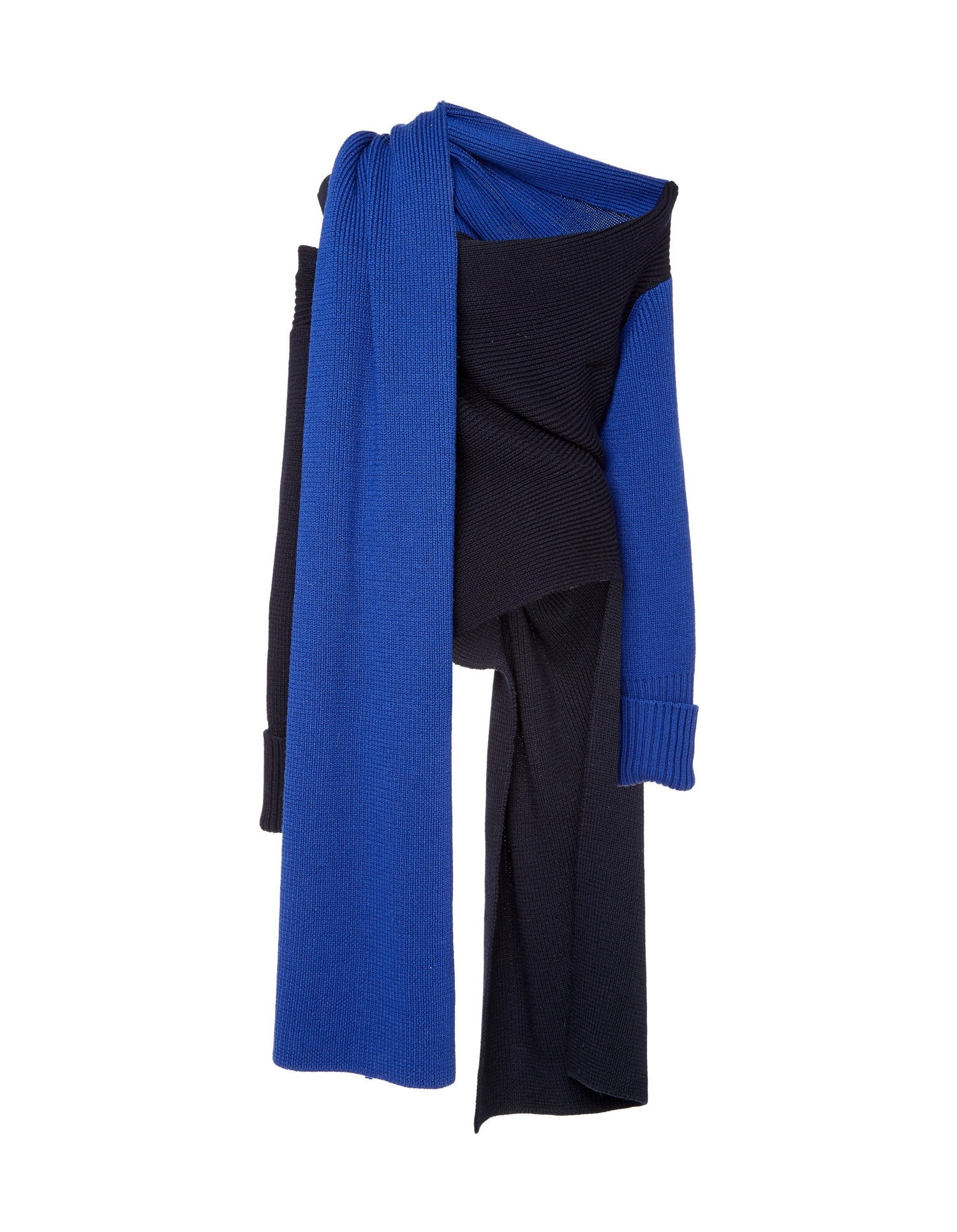 MONSE Two Tone Scarf Knit Flat Back