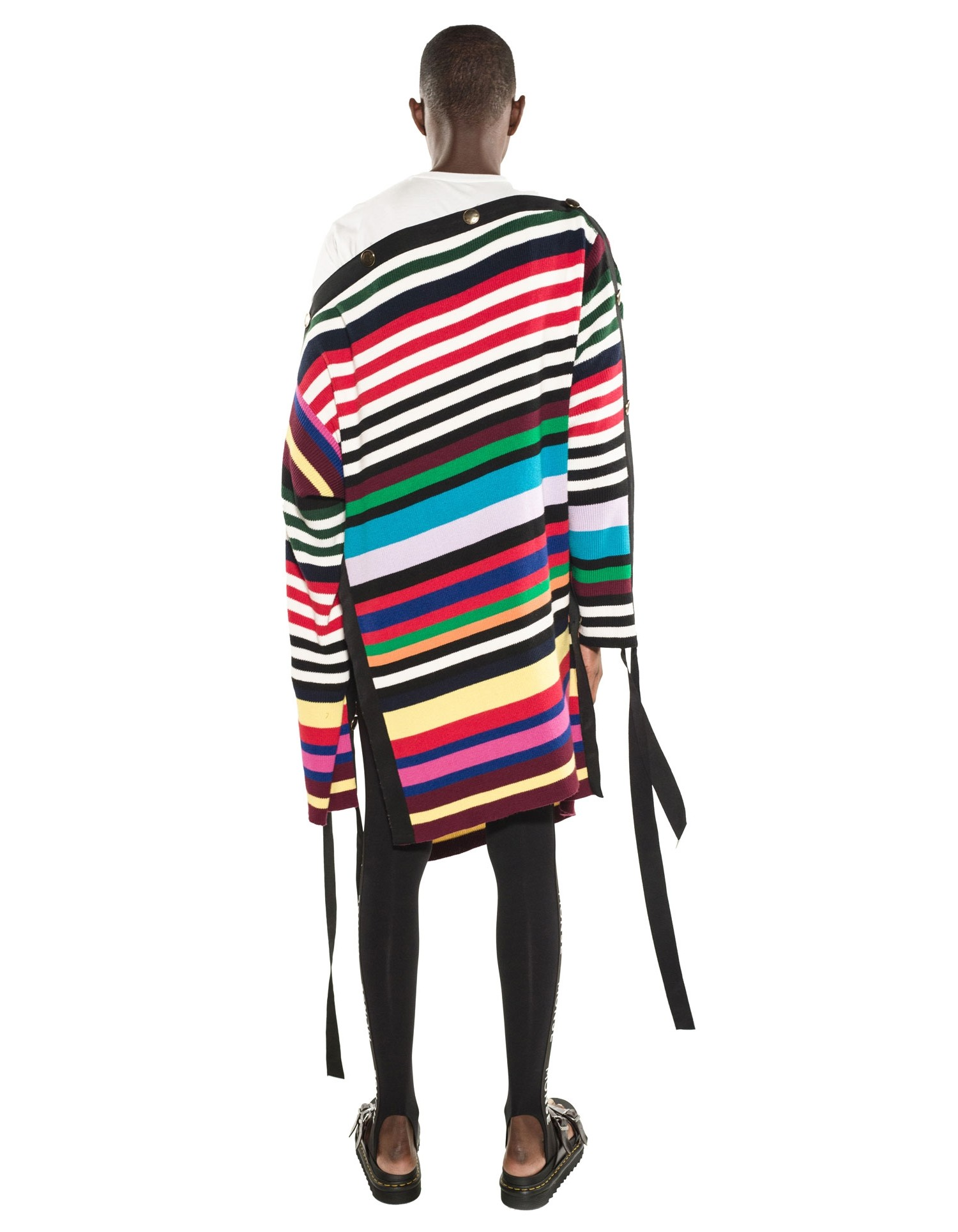 Monse Unisex Two-Tone Grosgrain Pullover on Model Back