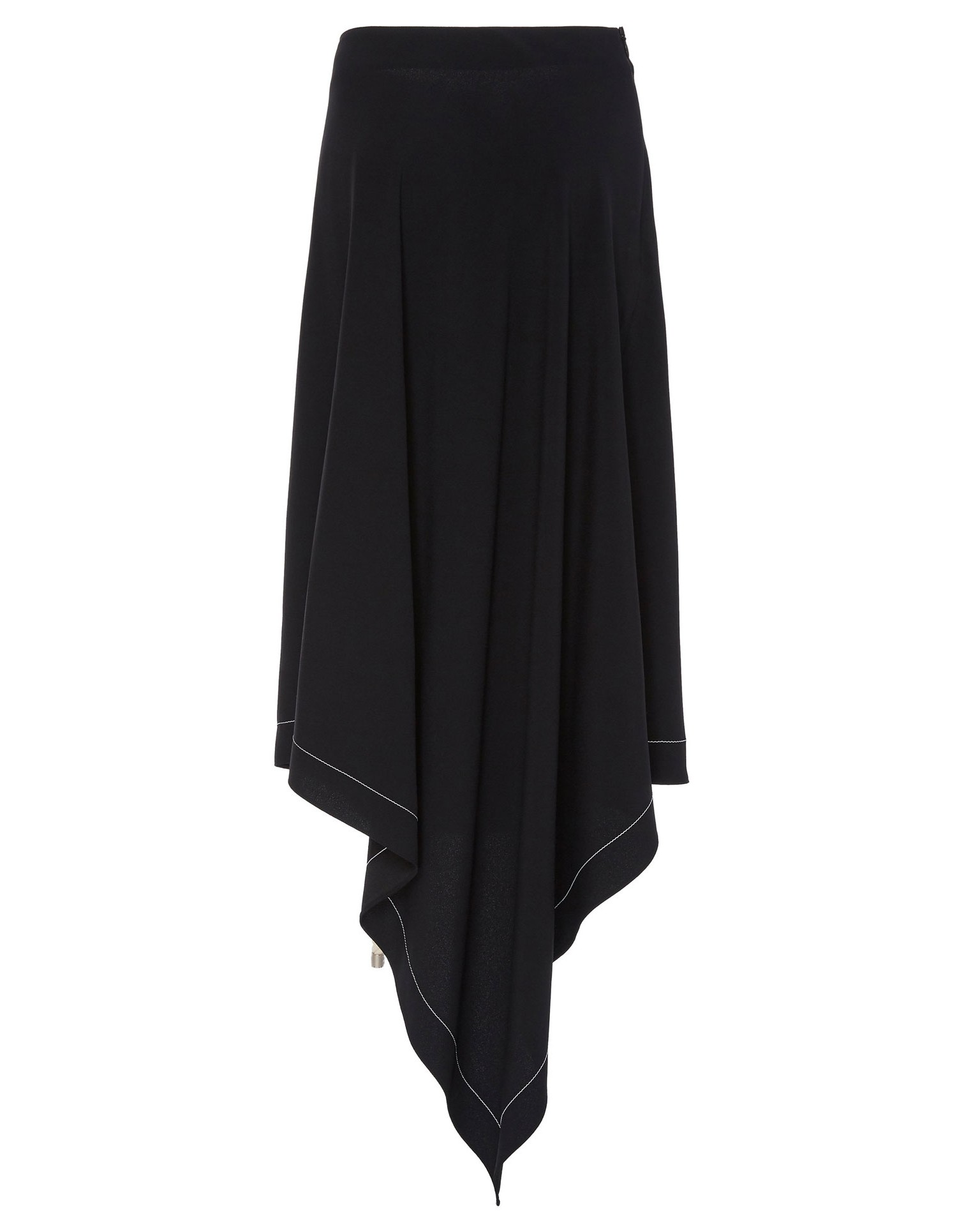 Monse Womens Asymmetrical Wrap Skirt with Interlacing Rope Back