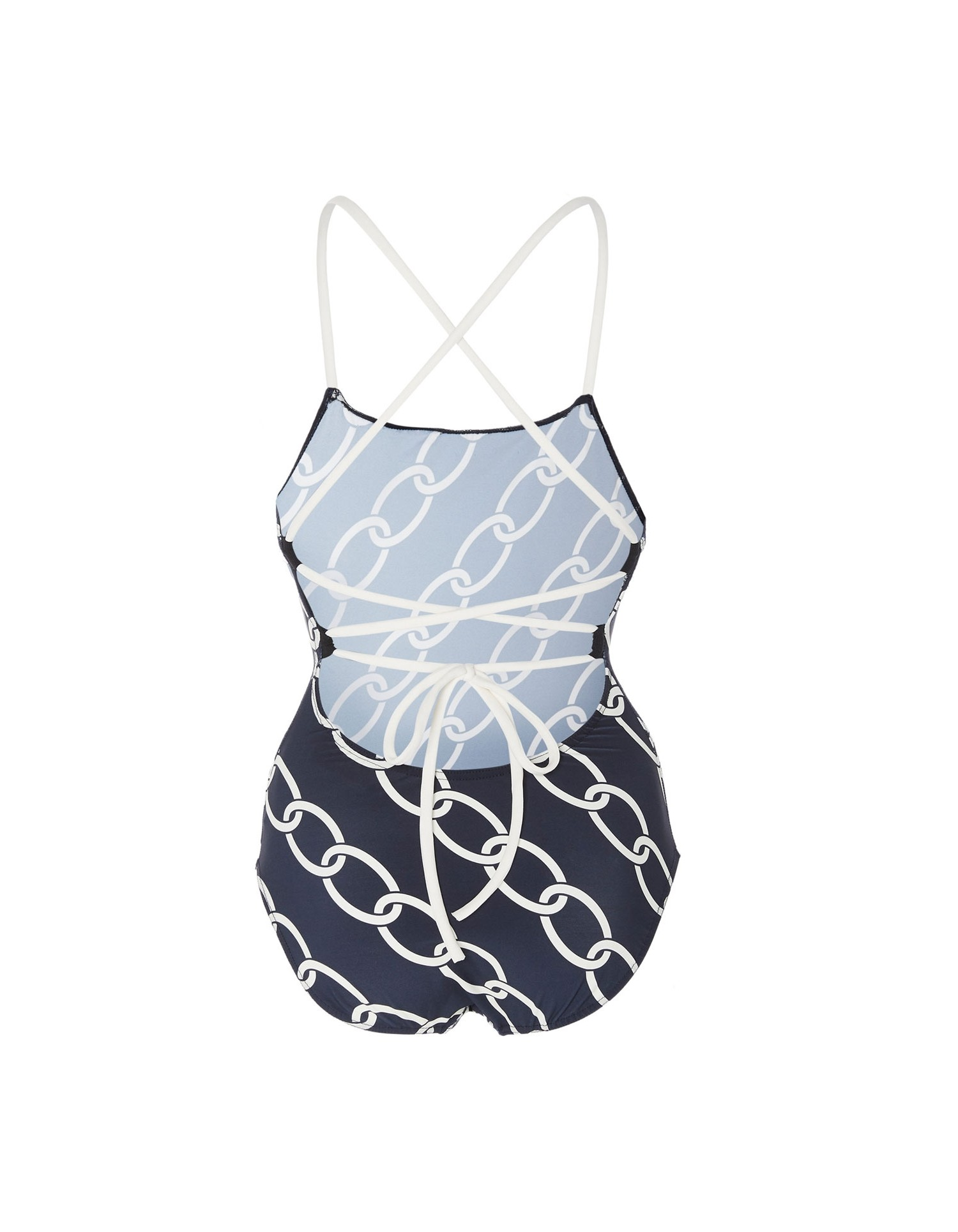 Monse Womens Chain Print Swimsuit Back