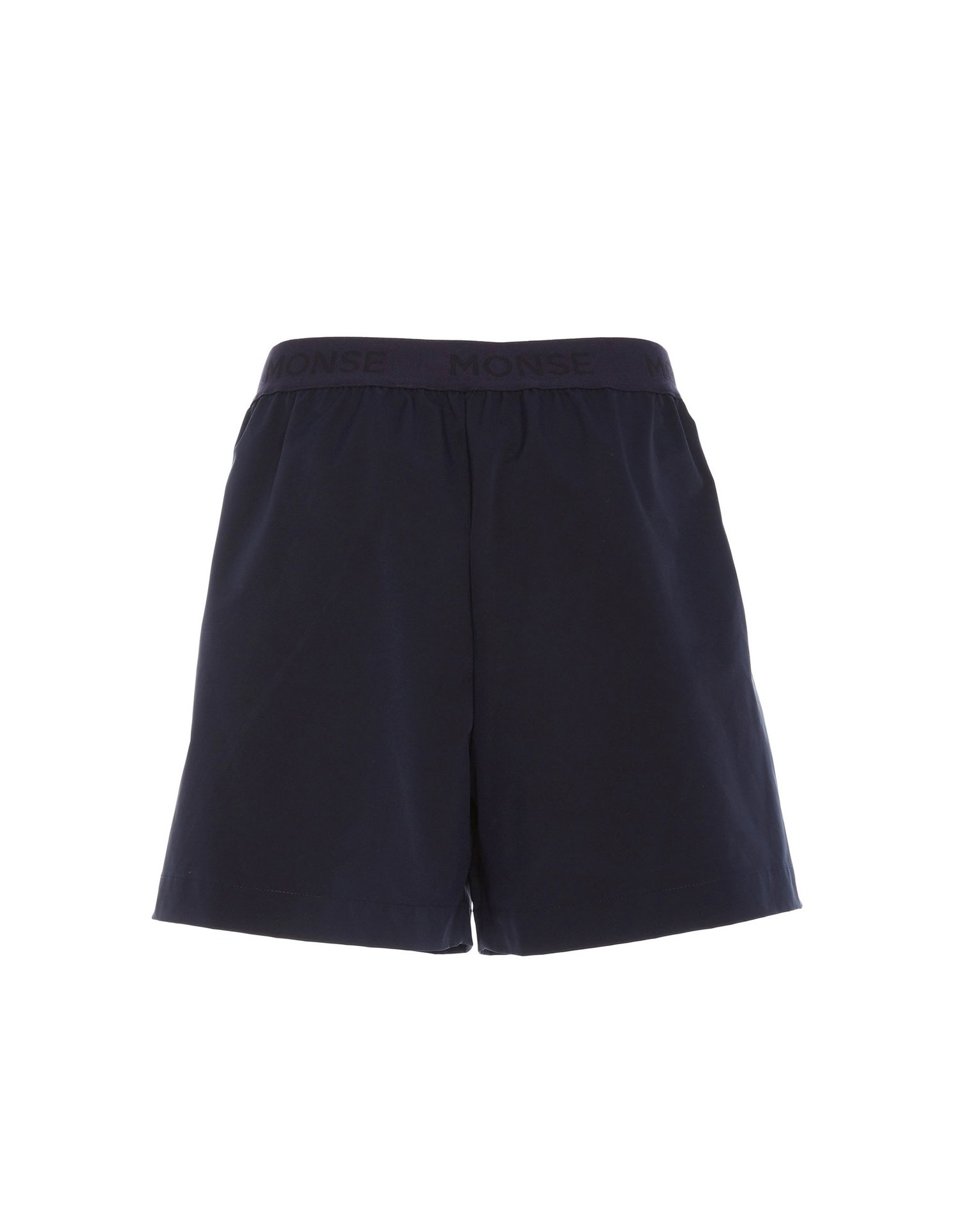 Monse Women's Jersey Shorts in Navy Back