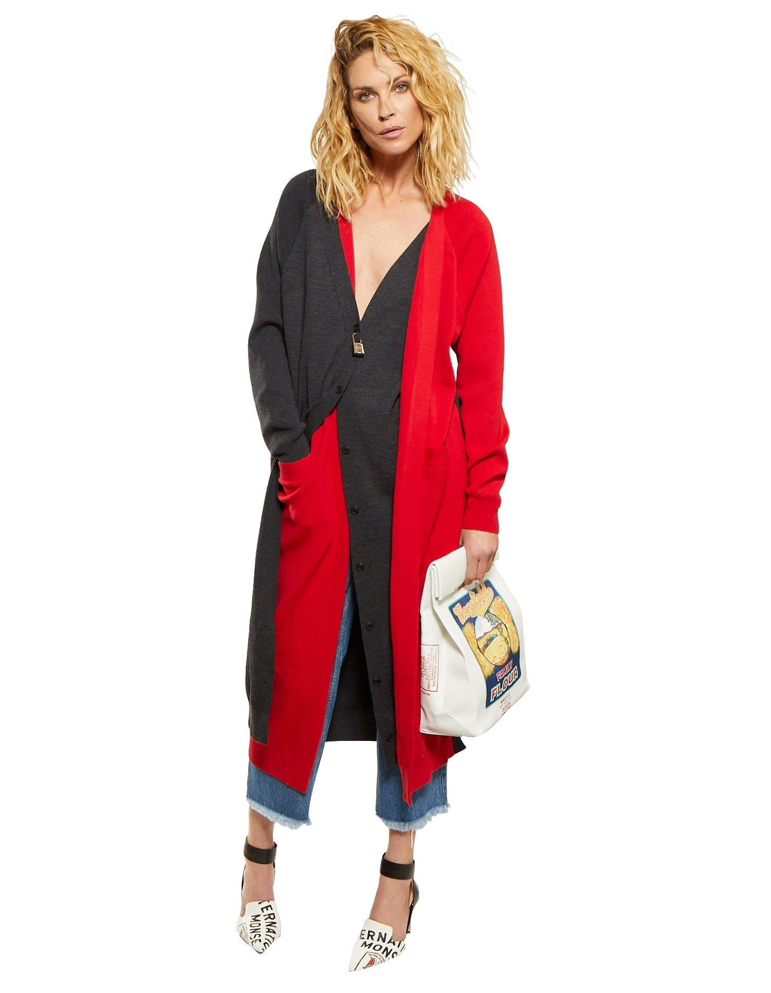 Long Double Placket Cardigan