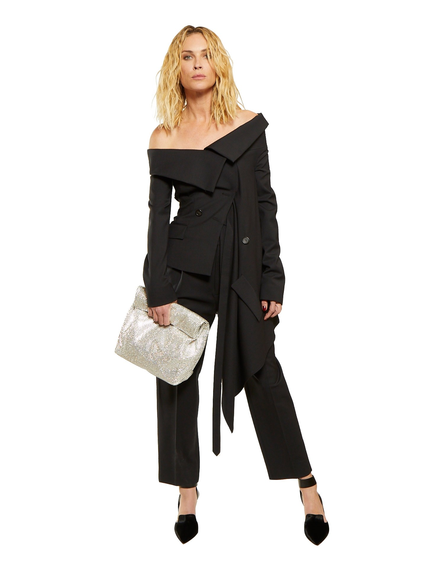 Off the Shoulder Jacket Black