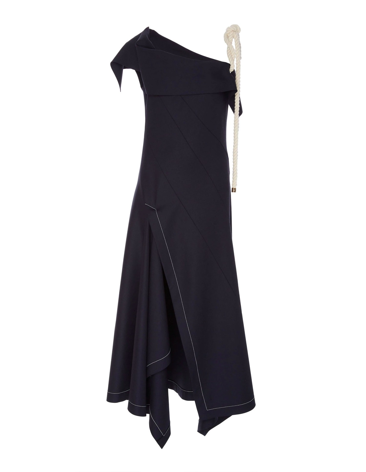 Monse Womens Rope Ties Dress in Navy Front