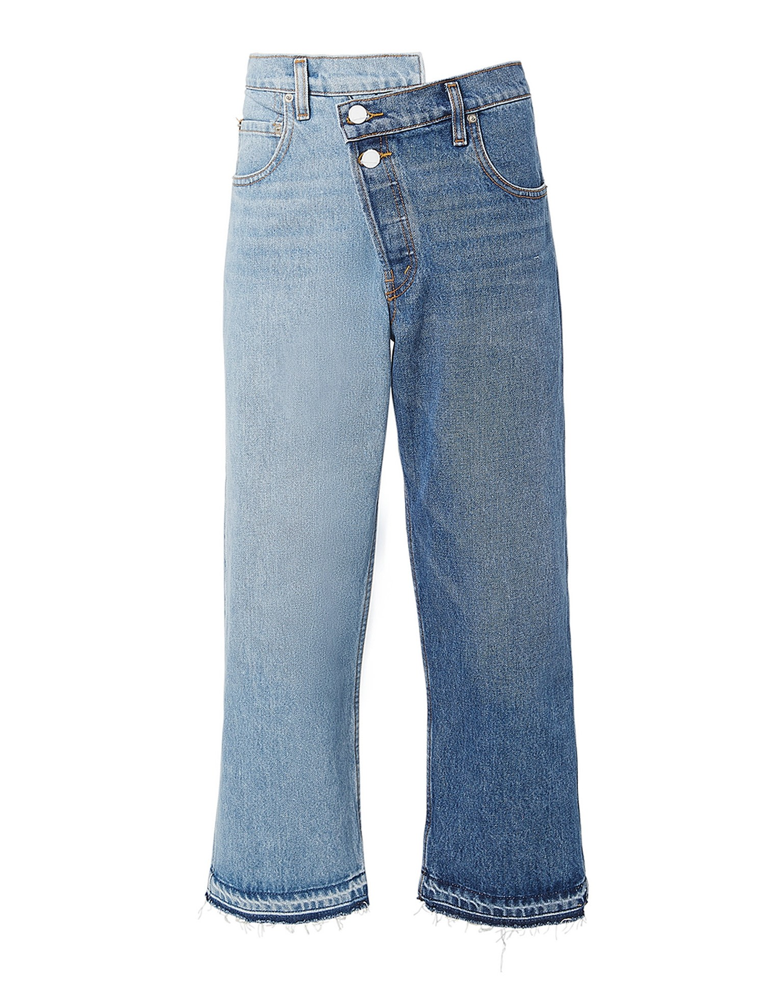 Split Wash Jean Light - Medium Blue