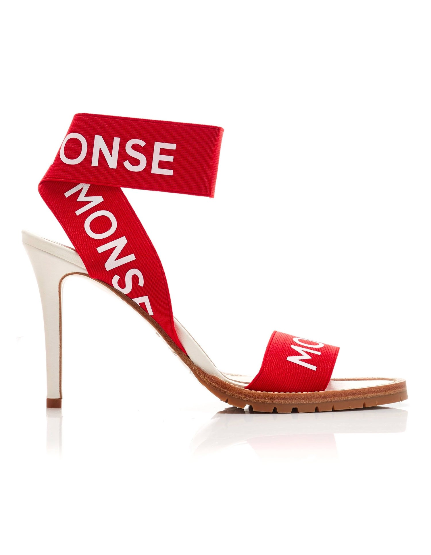 Monse Stretch Strap Heel Red