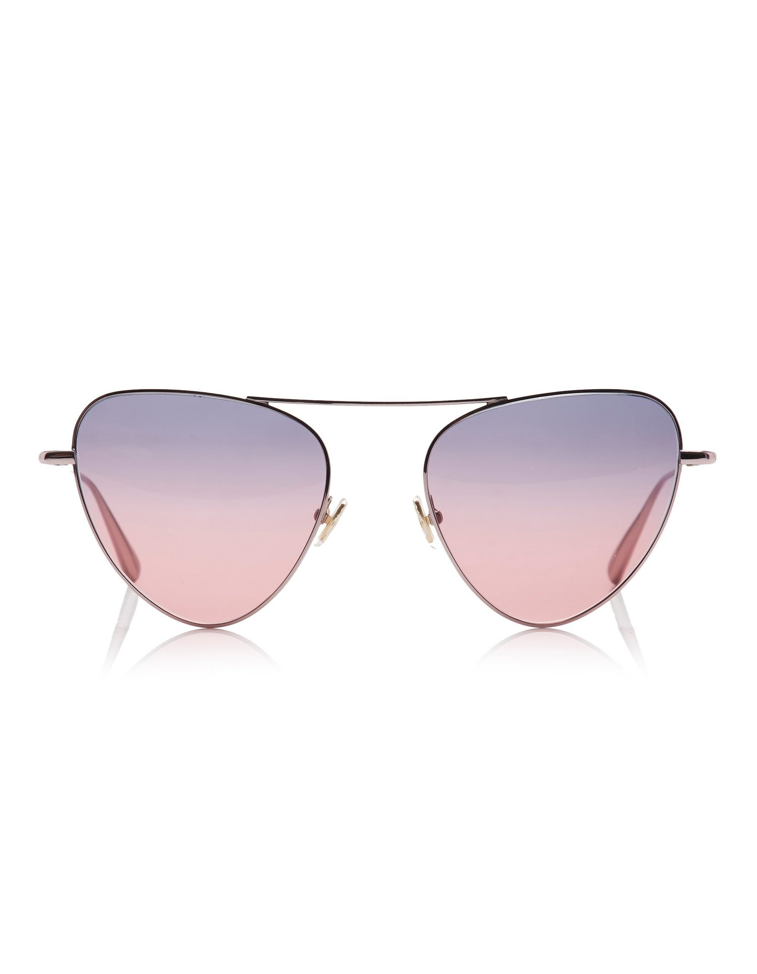 Monse Erika Sunglasses with Purple and Pink Ombre Shades