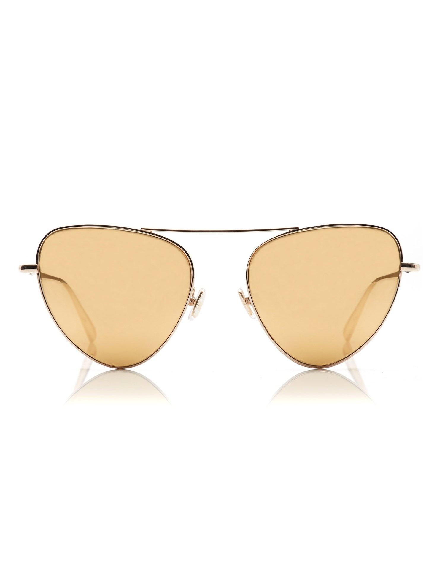 Monse Erika Sunglasses with Gold Shades