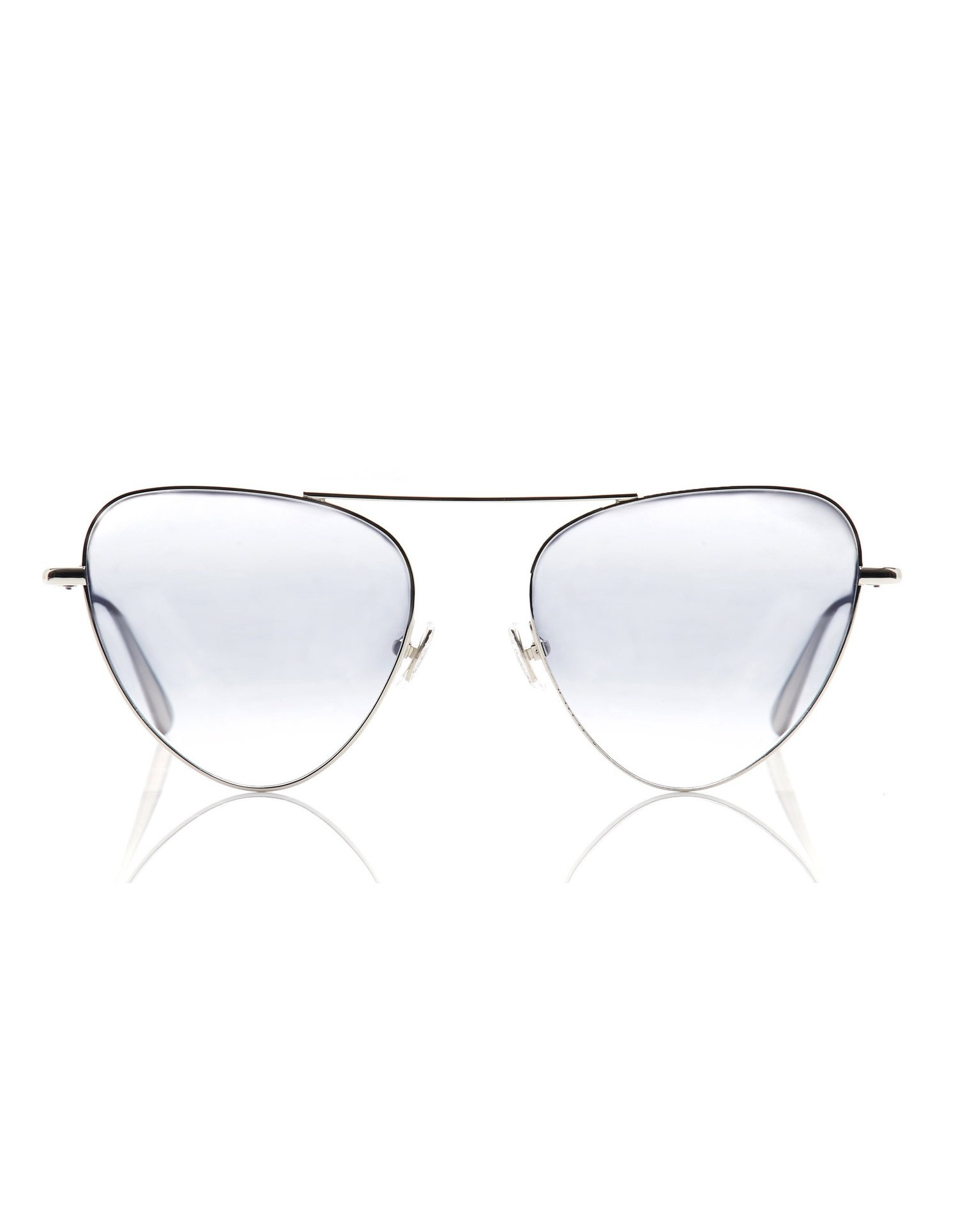 Monse Erika Sunglasses with Silver and Clear Ombre Shades