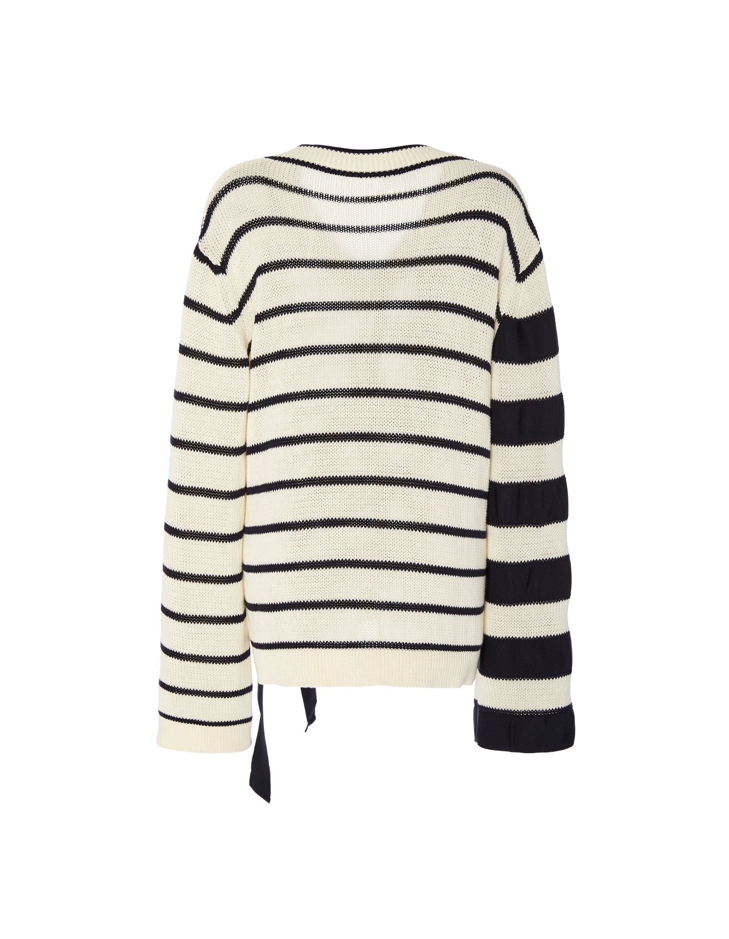 Monse Women's V-Neck Falling Stripes Pullover Back